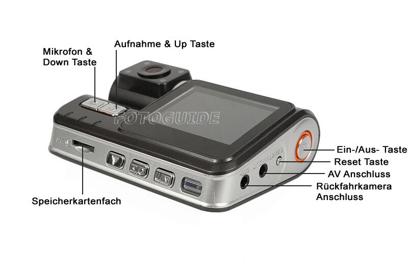 dual dvr auto cam autokamera videoregistrator mit. Black Bedroom Furniture Sets. Home Design Ideas