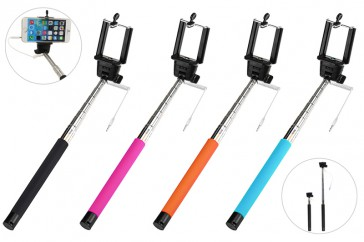 Selfie Stativ Stick Monopod Einbeinstativ passt zu iOS Android Smartphone (SCHWARZ)