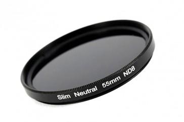 ND Filter / Graufilter ND8 SLIM 55 mm + Filterbox