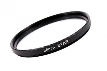 Effekt Filter Star Stern Gitter 6x 58 mm + Filterbox