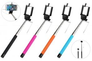 Selfie Stativ Stick Monopod Einbeinstativ passt zu iOS Android Smartphone (PINK)