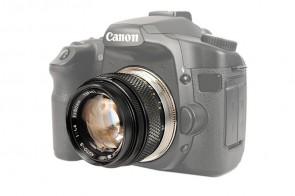 Objektivadapter für Olympus-OM  Objektiv auf Canon EOS Kamera