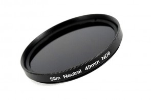 ND Filter / Graufilter ND8 SLIM 49 mm + Filterbox