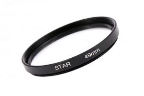 Effekt Filter Star Stern Gitter 6x 49 mm + Filterbox
