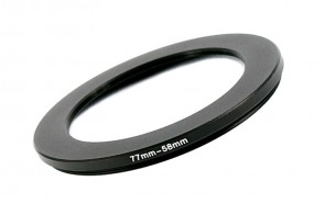Filteradapter Adapterring Step-Down 77mm - 58mm