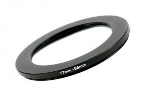 Filteradapter Adapterring Step-Down 77mm - 58mm