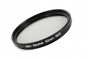 ND Filter / Graufilter ND2 SLIM 52 mm + Filterbox