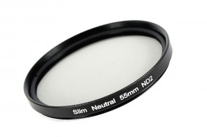 ND Filter / Graufilter ND2 SLIM 55 mm + Filterbox