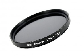 ND Filter / Graufilter ND4 SLIM 55 mm + Filterbox