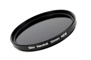 ND Filter / Graufilter ND8 SLIM 55 mm + Filterbox