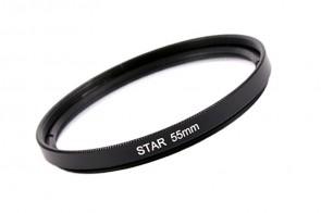 Effekt Filter Star Stern Gitter 4x 55 mm + Filterbox