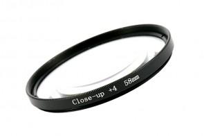 Nahlinse Makrolinse +4 58mm