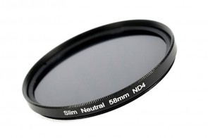 ND Filter / Graufilter ND4 SLIM 58 mm + Filterbox