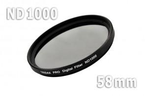 ND1000 Graufilter 58 mm + Filterbox
