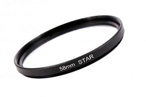 Effekt Filter Star Stern Gitter 4x 58 mm + Filterbox