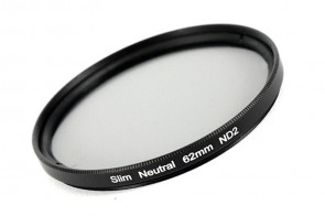 ND Filter / Graufilter ND2 SLIM 62 mm + Filterbox