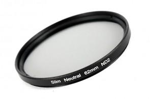 ND Filter / Graufilter ND2 SLIM 62 mm + Filterbox