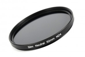 ND Filter / Graufilter ND4 SLIM 62 mm + Filterbox