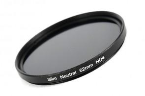 ND Filter / Graufilter ND4 SLIM 62 mm + Filterbox