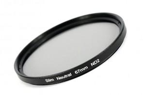 ND Filter / Graufilter ND2 SLIM 67 mm + Filterbox