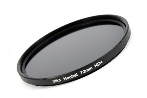 ND Filter / Graufilter ND4 SLIM 72 mm + Filterbox