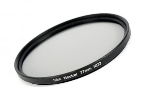ND Filter / Graufilter ND2 SLIM 77 mm + Filterbox