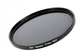 ND Filter / Graufilter ND4 SLIM 77 mm + Filterbox