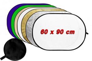 7in1 Faltreflektor Set + Diffusor + Hintergrund 60 x 90 cm