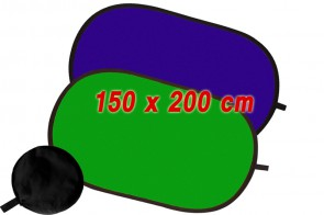 Set Hintergrund faltbar 2in1 grün & blau 150 x 200 cm