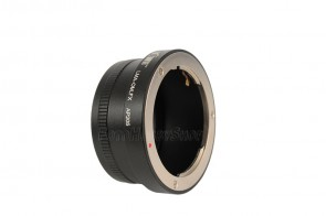 Objektivadapter für Olympus OM Objektive an Fujifilm X-Bajonett Kamera