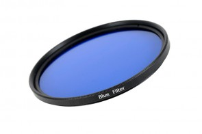 Farbfilter BLAU / BLUE Filter 58 mm