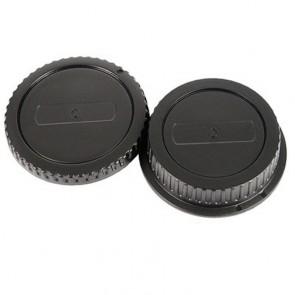 Gehäusedeckel und Objektivrückdeckel Set für Canon EOS