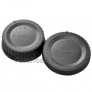 Gehäusedeckel und Objektivrückdeckel Set für Nikon F
