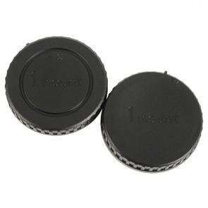 JJC Gehäusedeckel und Objektivrückdeckel für Nikon 1