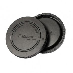 Gehäusedeckel und Objektivrückdeckel für Sony NEX / E-Bajonett