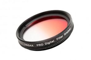 Tridax Verlaufsfilter Gradual rot / red 40,5mm