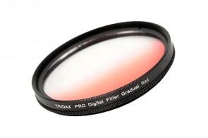 Tridax Verlaufsfilter Gradual rot / red 49mm