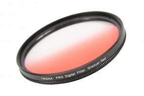 Tridax Verlaufsfilter Gradual rot / red 55mm