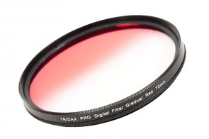 Tridax Verlaufsfilter Gradual rot / red 72mm