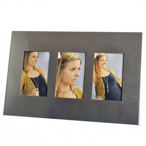 """Porträtrahmen Galerie """"Orleans"""", Metall, für 3 Fotos 10x15 cm, von Hama (65003)"""