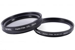 Set 39 mm: CPL Polarisationsfilter Circular SLIM + Digital UV Filter