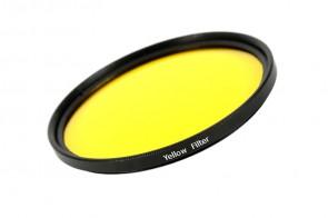 Farbfilter GELB / YELLOW Filter 55 mm